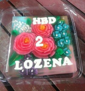 Birthday Puding Art